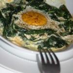 In de oven gebakken ei op Florentijnse wijze